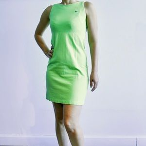 Lacoste mini green casual dress Size 34 or XS